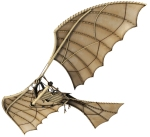 "An ""Ornithopter"" Personal Flying Machine by Da Vinci"