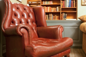 A Chesterfield in the forward sitting room