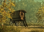 A Wizard's Wonder Cart in Lita Burke's Forest