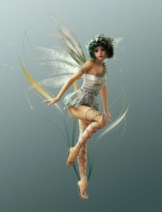 See the Strands of Pixie Dust Swirl Around Her?
