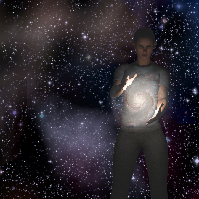 Galaxy in Her Hands