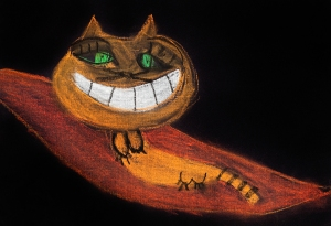 "Cheshire Cat Hides Under the ""W"""