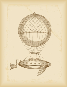 One of Young Kadmeion's Favorite Flying Machines. A Cat Aviator Sat On a Cushion Under the Balloon and Steered by Pawing At the Strings.