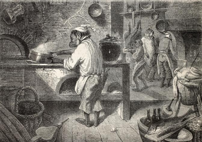 True. Monkeys Do the Cooking in Death's Castle