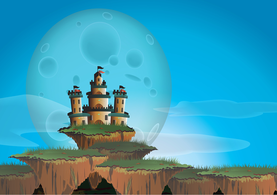 Castle on a Floating Island