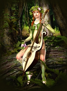 Hear a Woodland Nymph Play a Fiddle