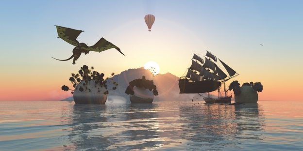 Airships and a Dragon